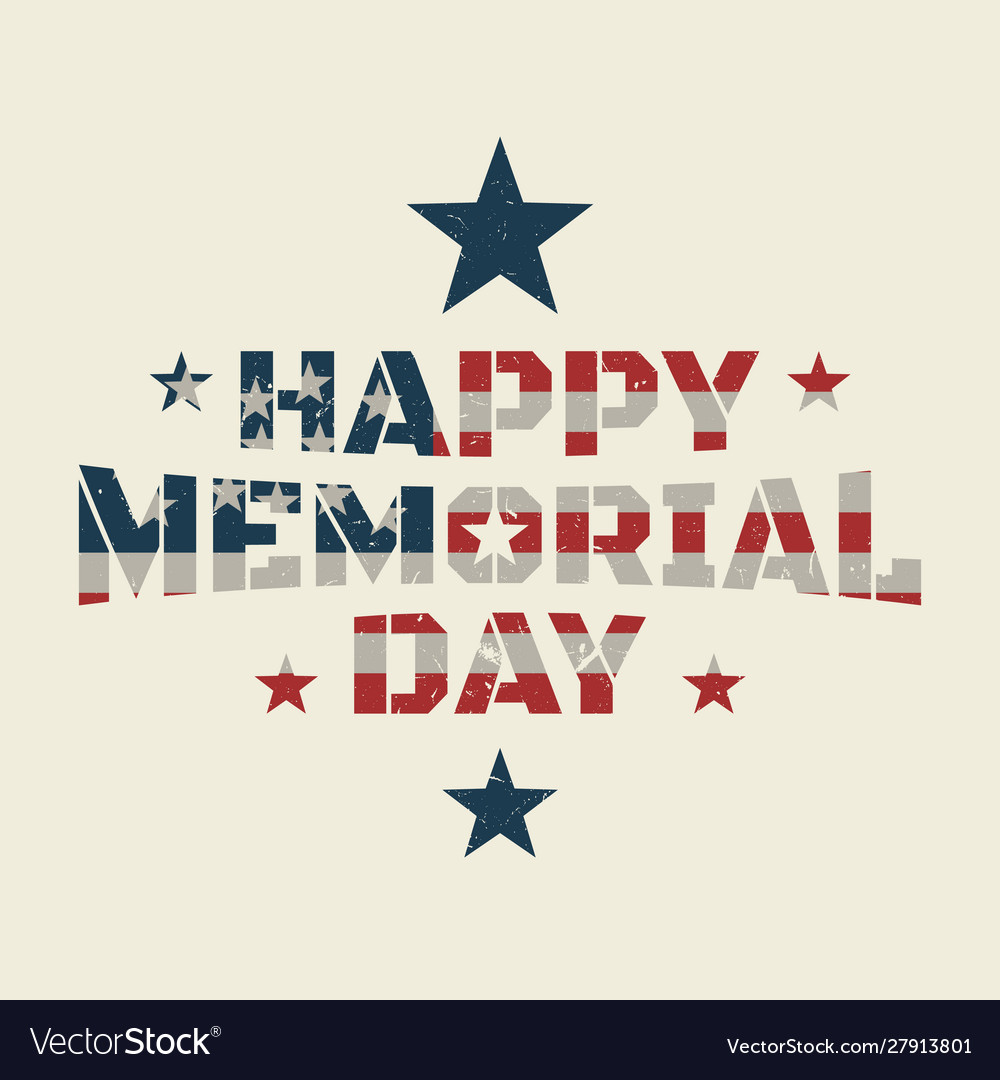 Memorial day background or banner design with