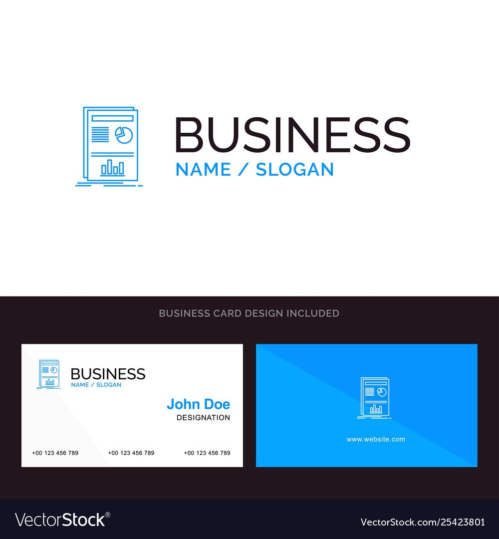 Presentation layout graph success blue business