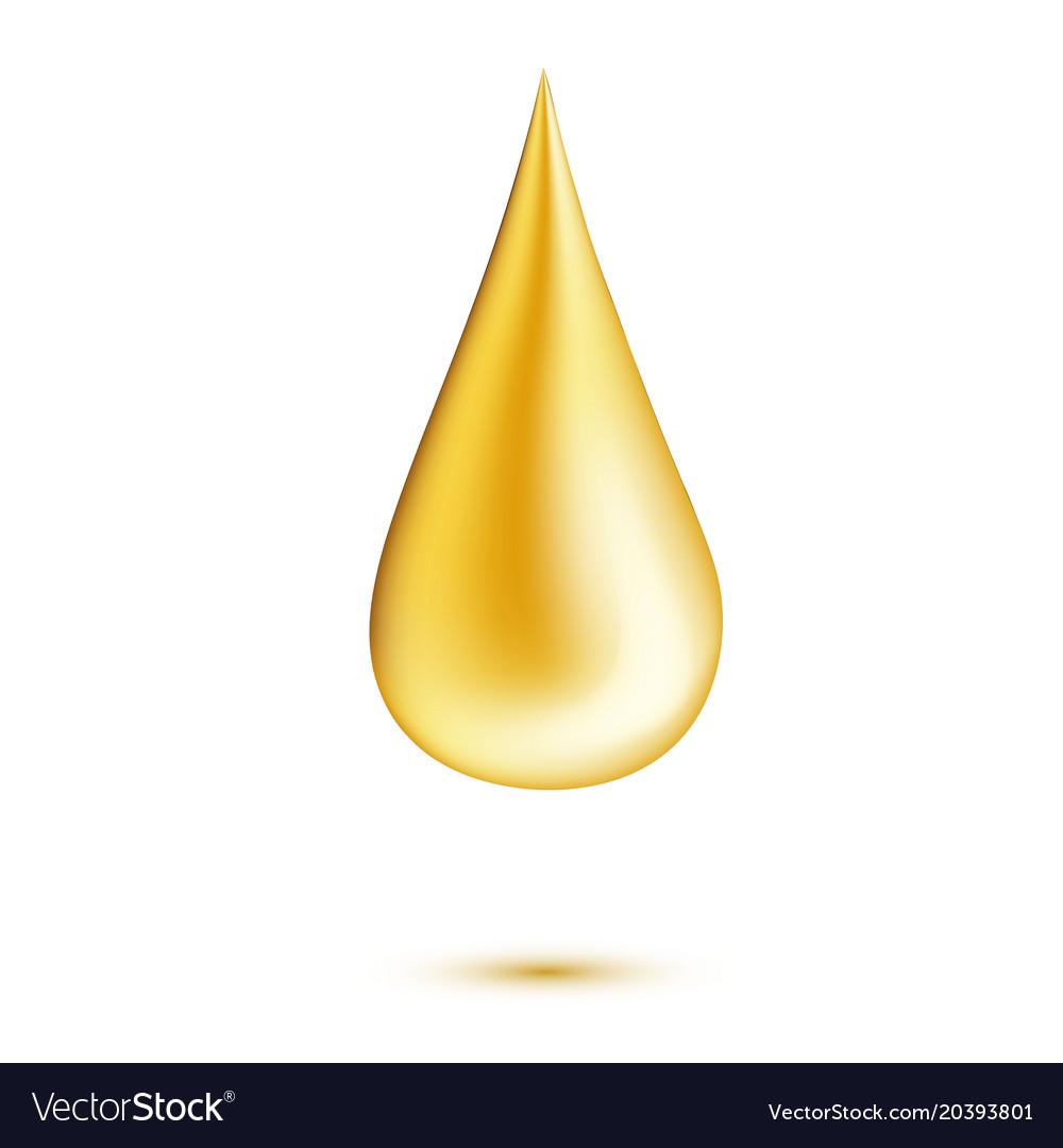Realistic oil drop
