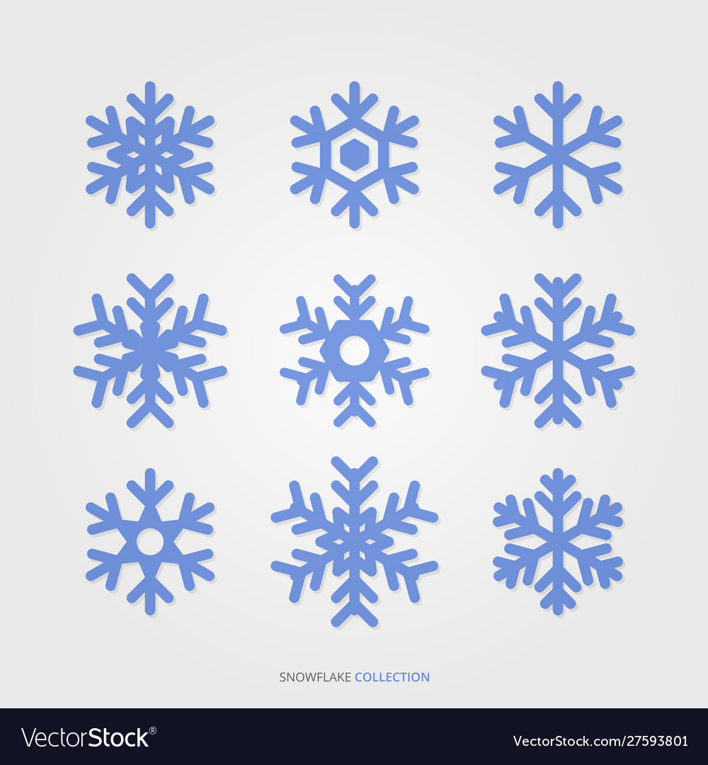 Season Snowflake Silhouette Set Royalty Free Vector Image 62kb, snowflake silhouette drawing picture with tags: vectorstock