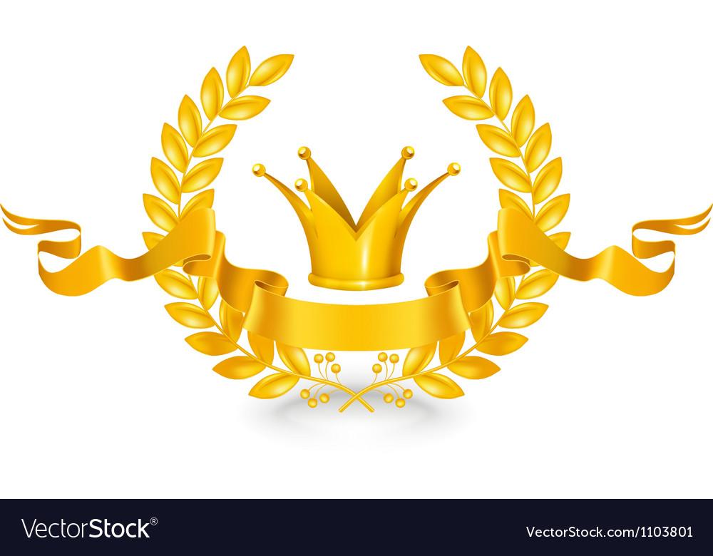 Vintage emblem gold