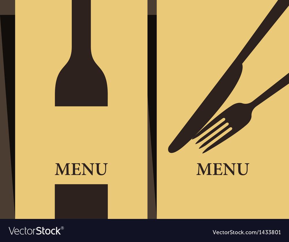 Wine list and menu design vector image
