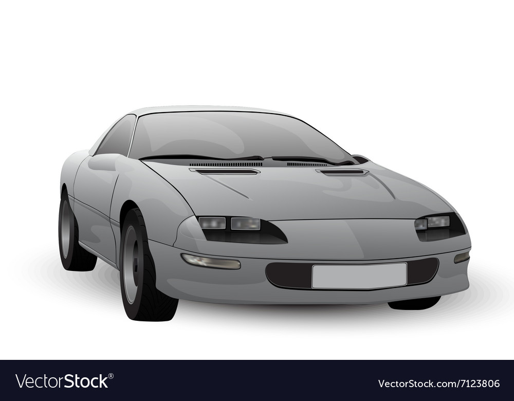 Abstract car isolated on white background