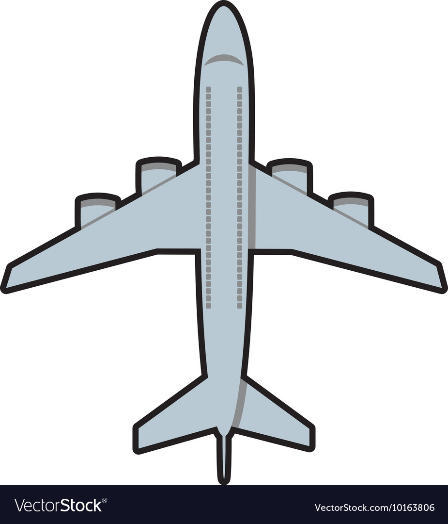 airplane grey travel transporation icon royalty free vector