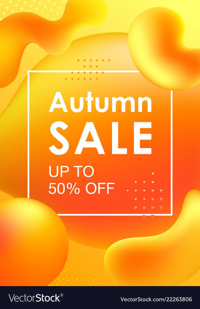 Autumn sale design with colorful gradient shapes