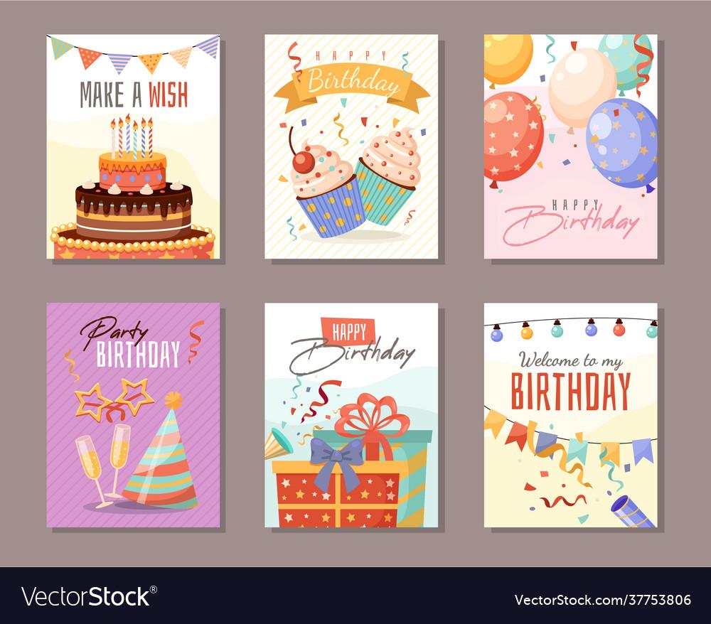 Birthday party anniversary celebration greeting