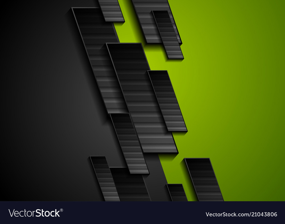 Black and green tech geometrical background