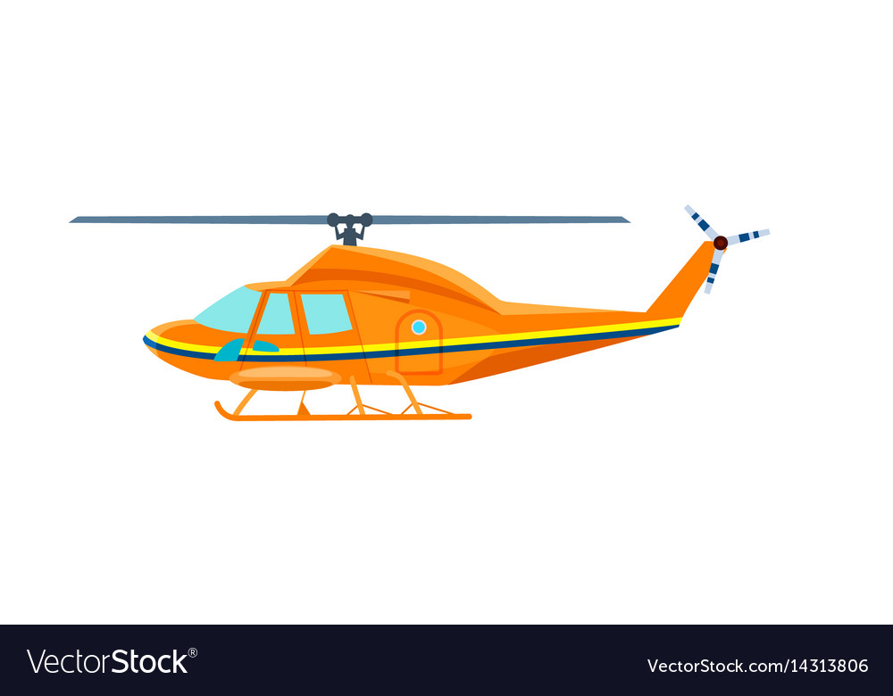 Civil helicopter isolated icon vector image