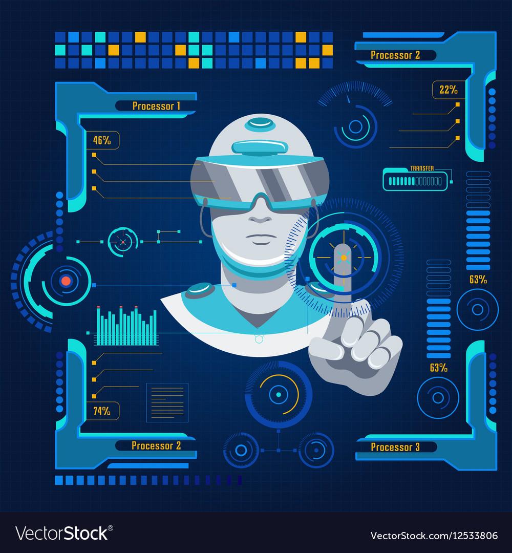 Futuristic User Interface Concept vector image