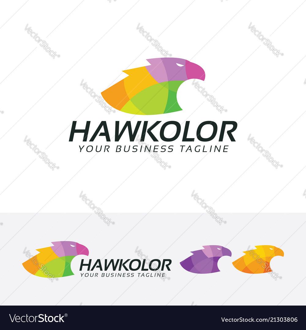 Hawk color logo design