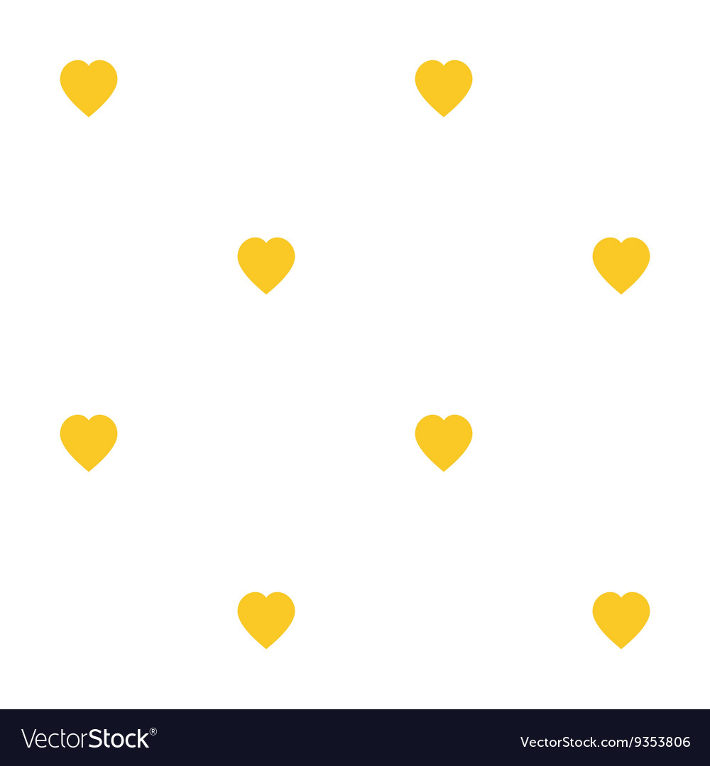 Seamless pattern with yellow hearts diagonal for
