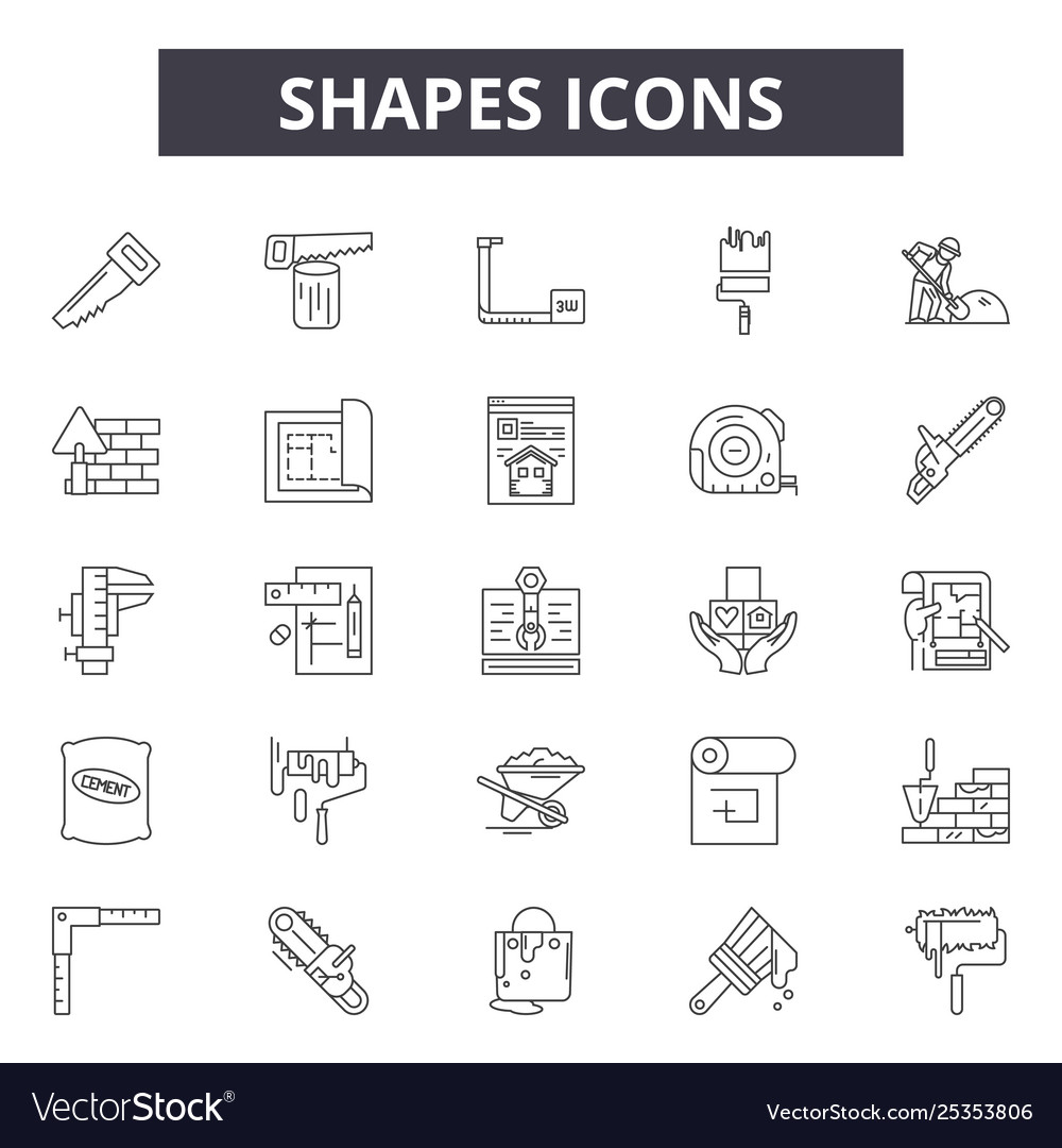 Shapes line icons signs set linear
