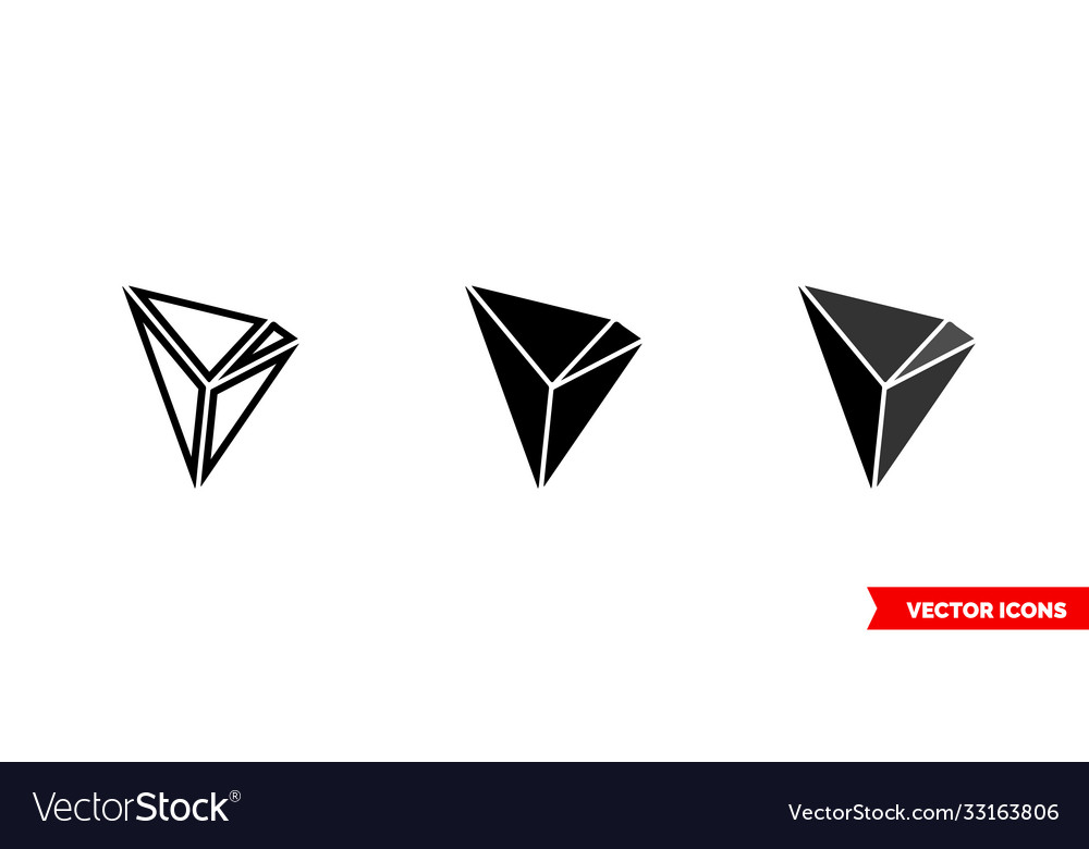 Tron icon 3 types color black and white