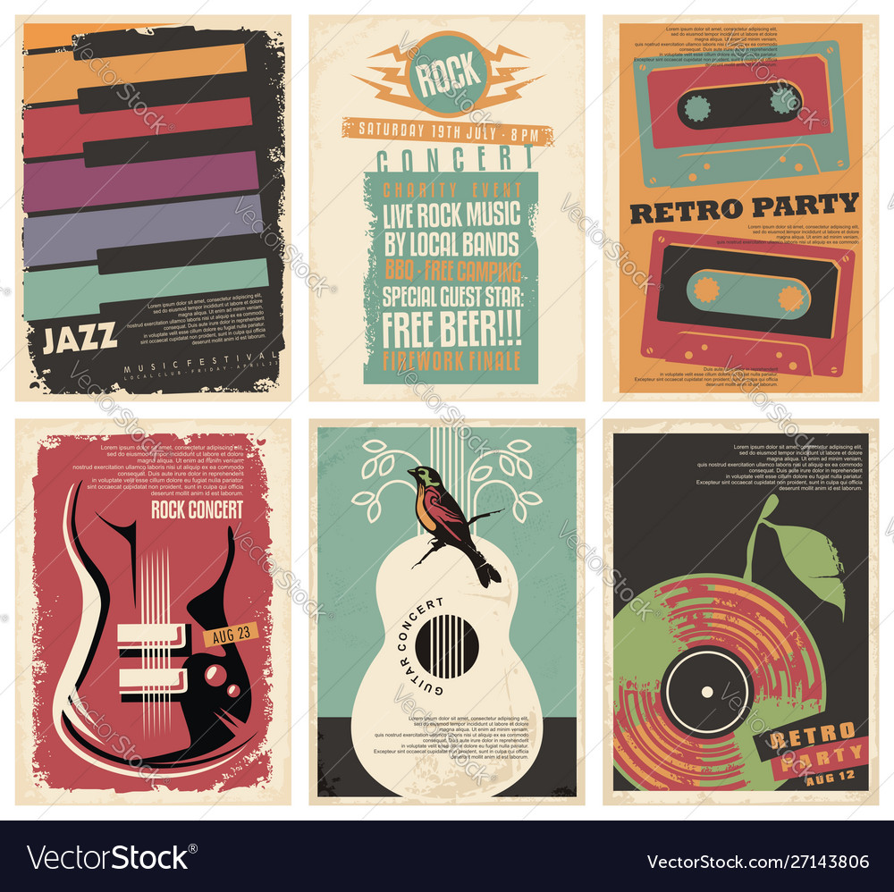 Vintage collection musical posters