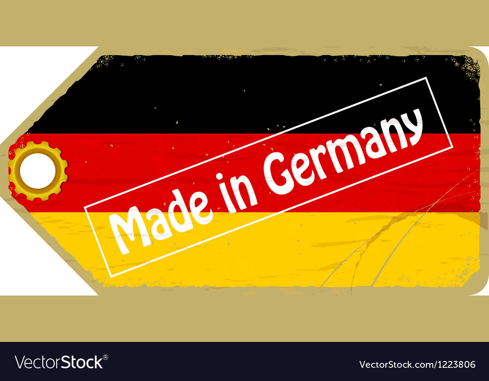 Vintage label with the flag of Germany