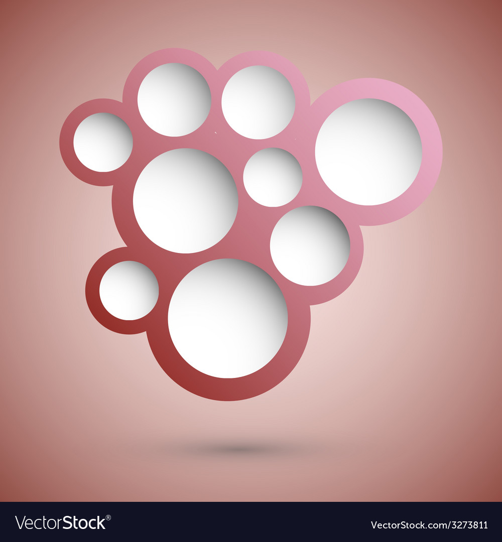 Abstract red speech bubble background