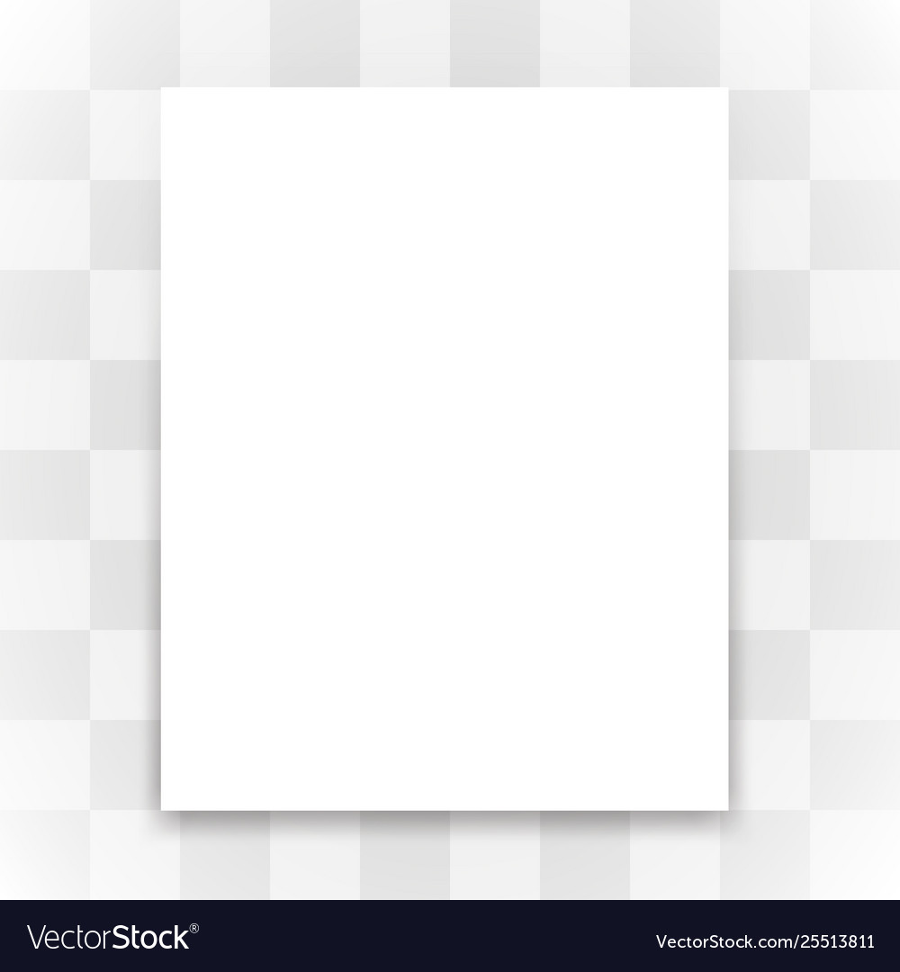 Blank White Paper On Transparent Background Vector Image
