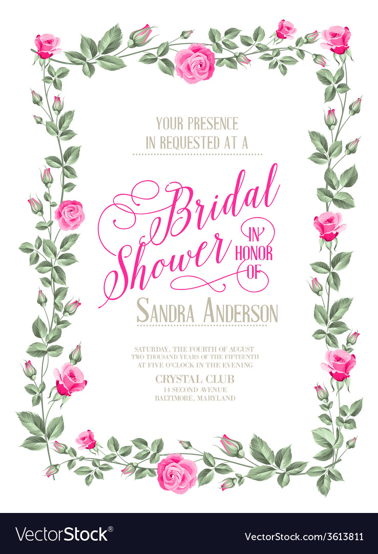 Bridal Shower Invitation Royalty Free