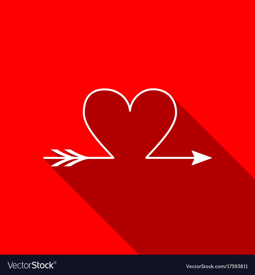 Cupid Arrow Heart Valentines Day Cards Element Vector Image