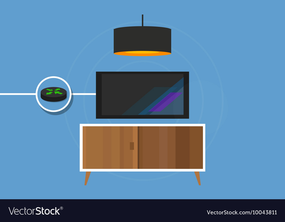 IP TV connected Television to internet protocol vector image