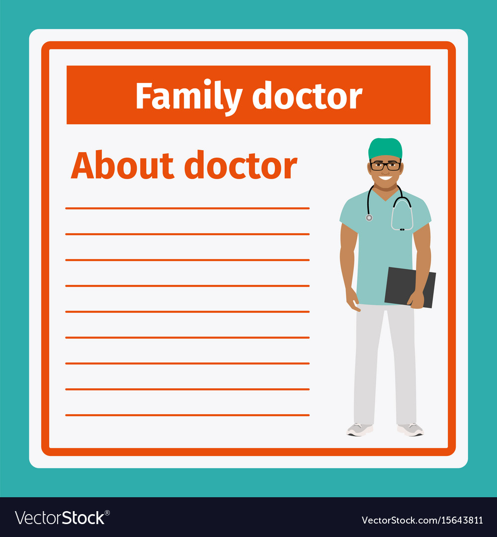 Medical notes about family doctor vector image