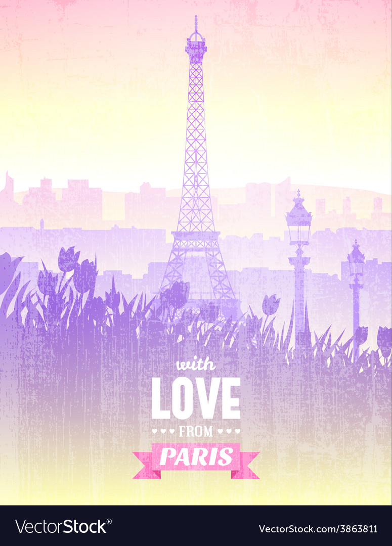 Poster with views of Paris