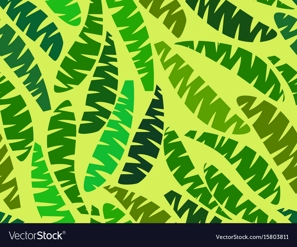Seamless palm leaves tropical jungle summer