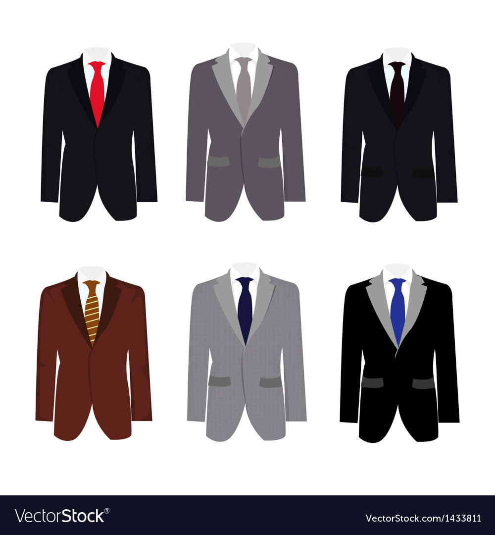 Set of 6 handsome business suit
