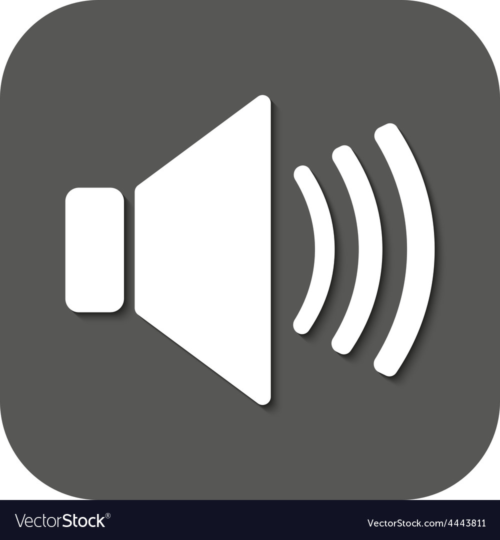 The speaker icon Sound symbol Flat Royalty Free Vector Image