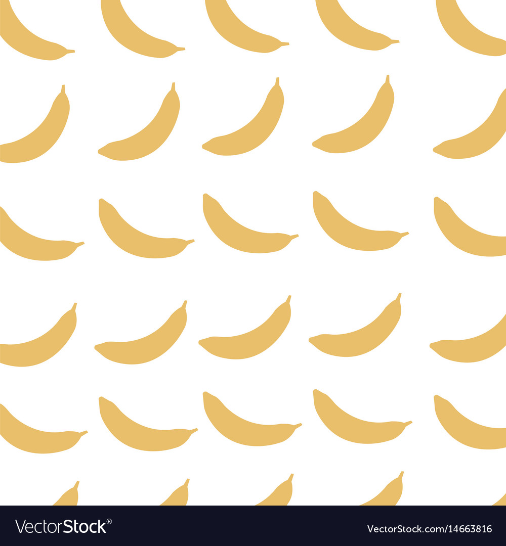 Banana fruit harvest fresh seamless pattern image vector image