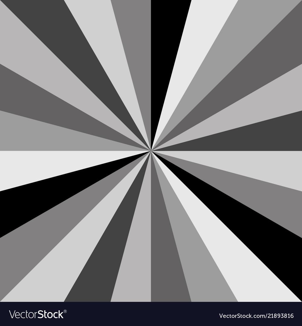 Gray sunburst background pattern of swirled