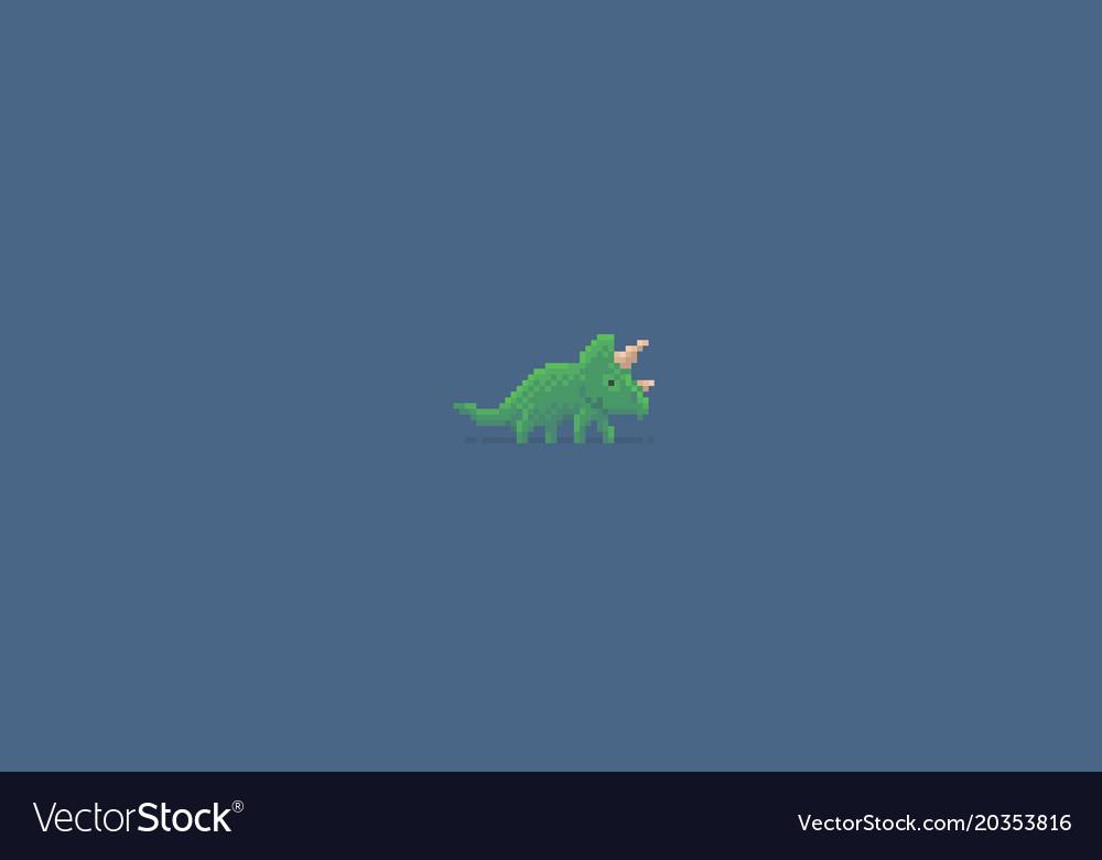 Pixel art triceratops