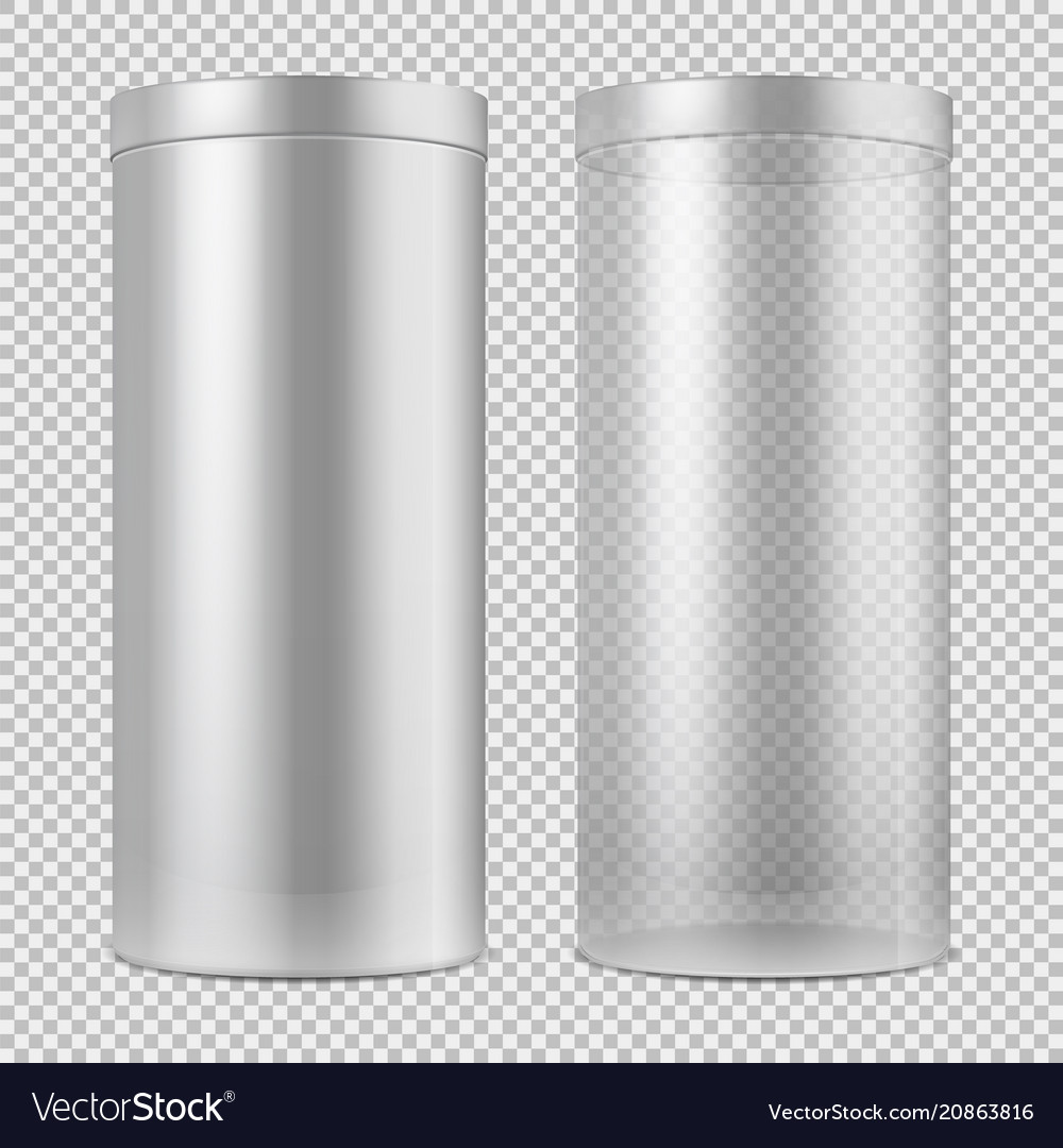 Realistic 3d empty transparent glass jar and and vector image