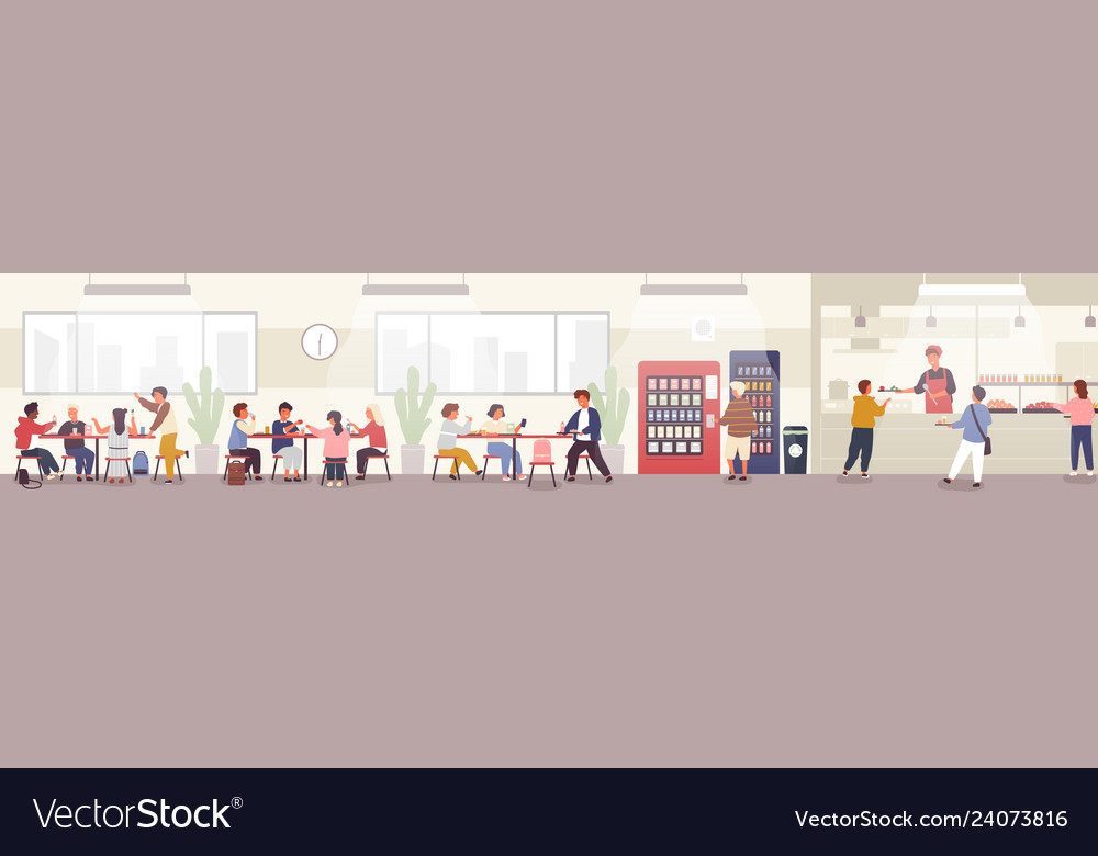 School cafeteria canteen or dining hall with