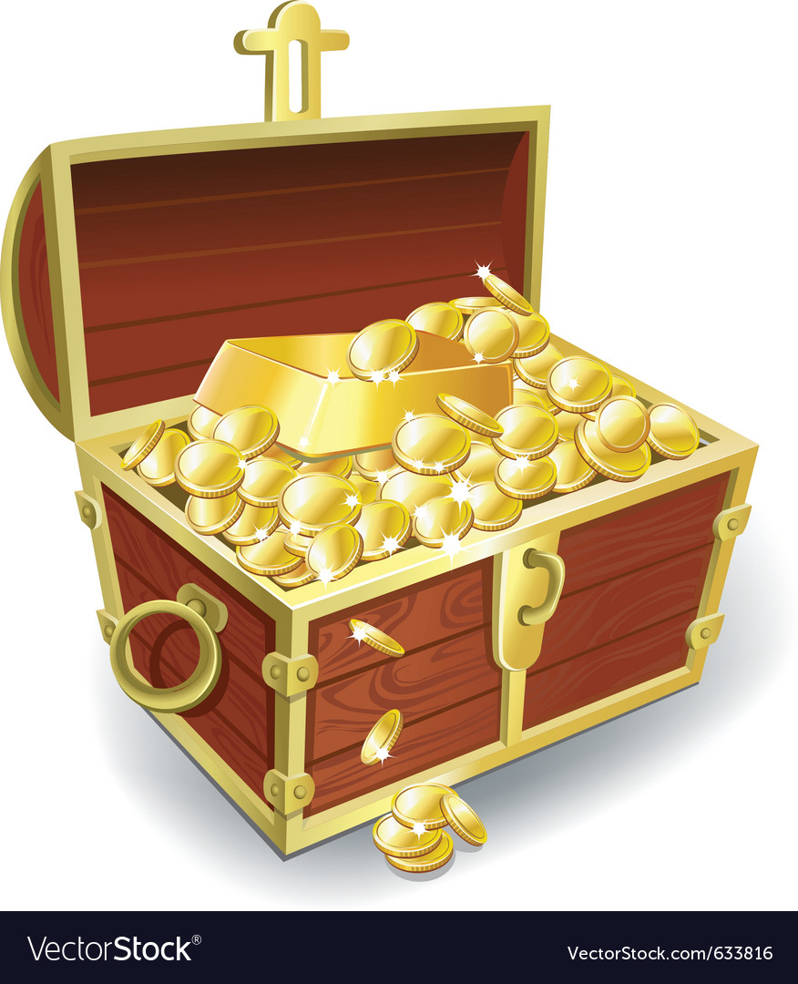treasure chest royalty free vector image vectorstock rh vectorstock com treasure chest vector png treasure chest vector silhouette