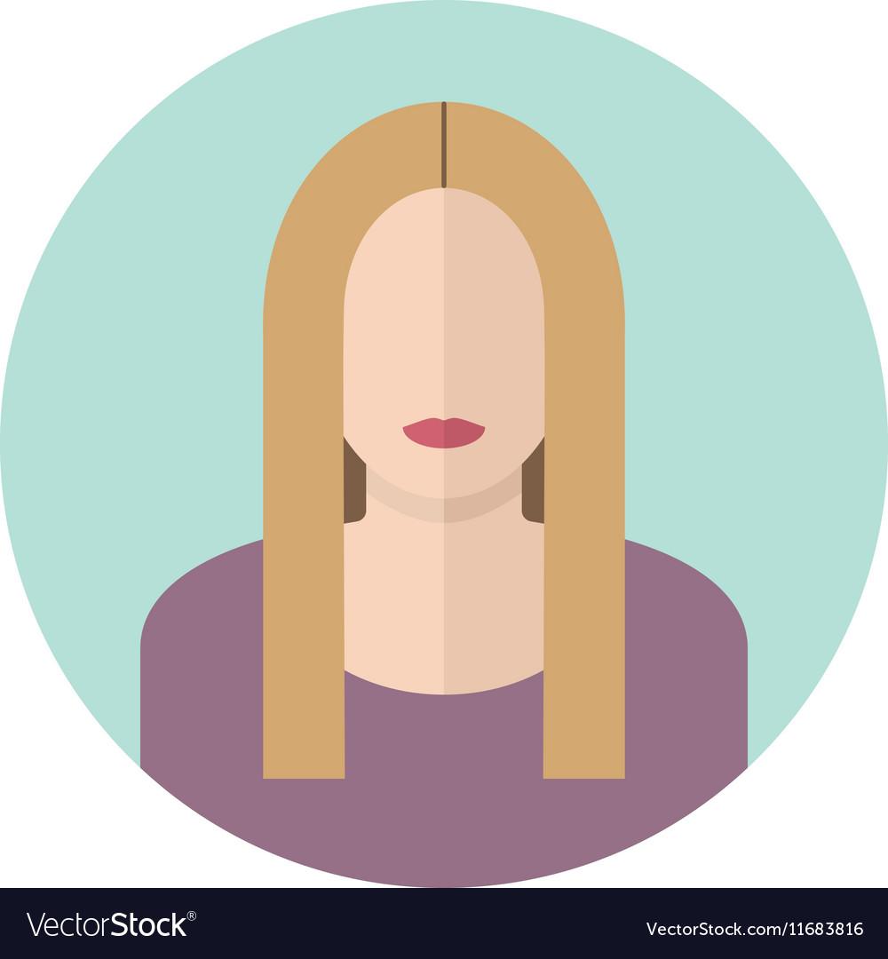 Young blondy woman flat icon Modern design