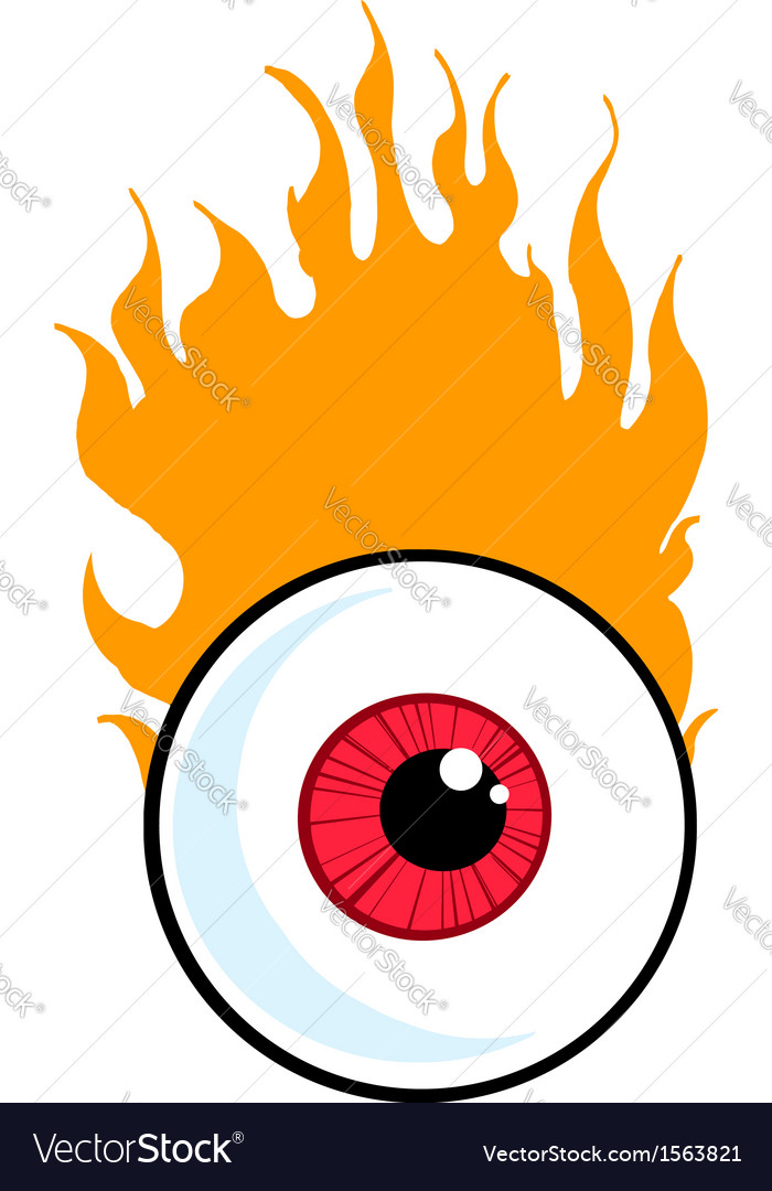 cartoon eyeball royalty free vector image vectorstock rh vectorstock com eyeball vector image flying eyeball vector