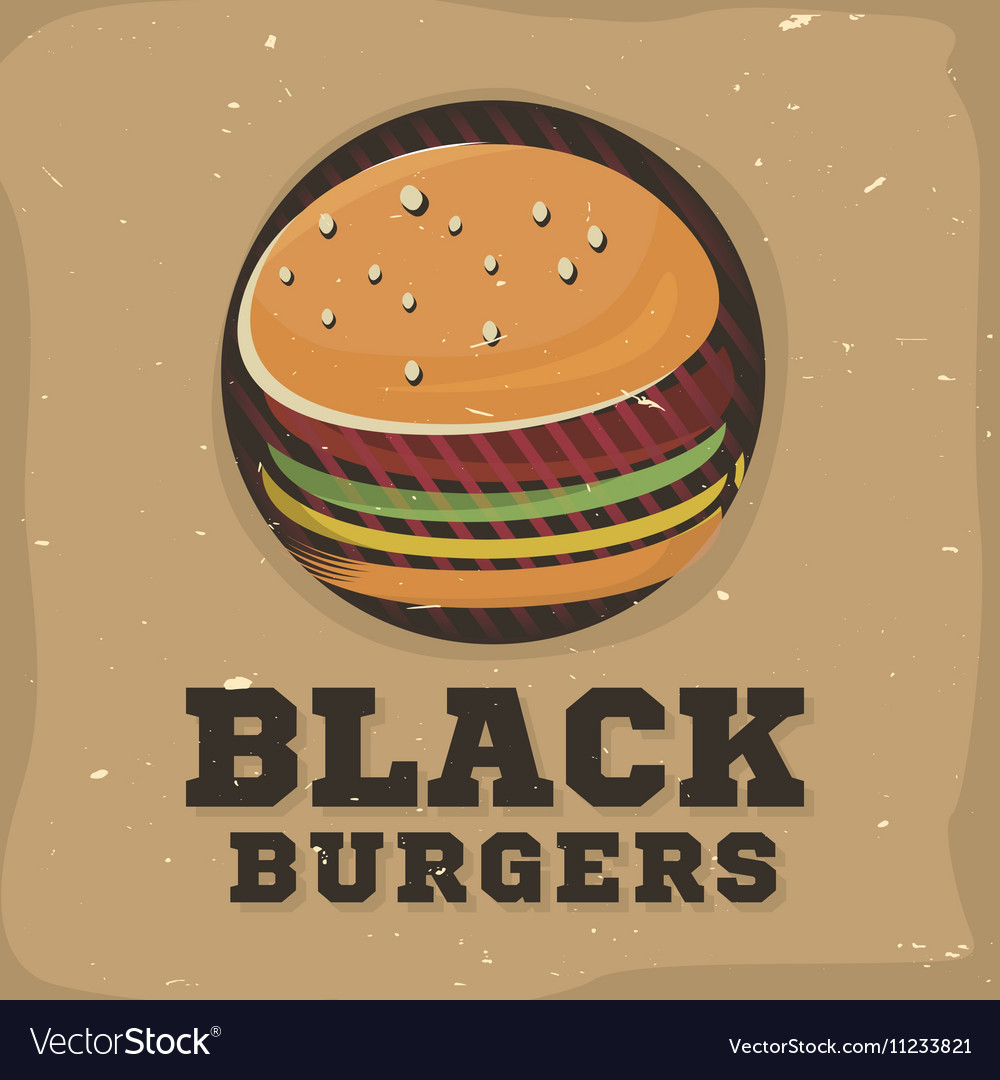 Creative logo design with burger