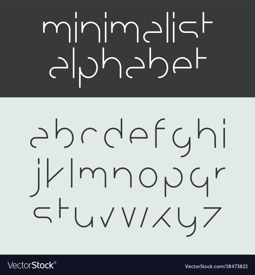 Minimalist Alphabet Lowercase Letters Font Design Vector Image