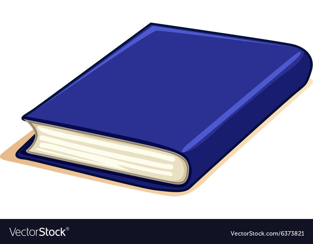 Thick book with blue cover vector image