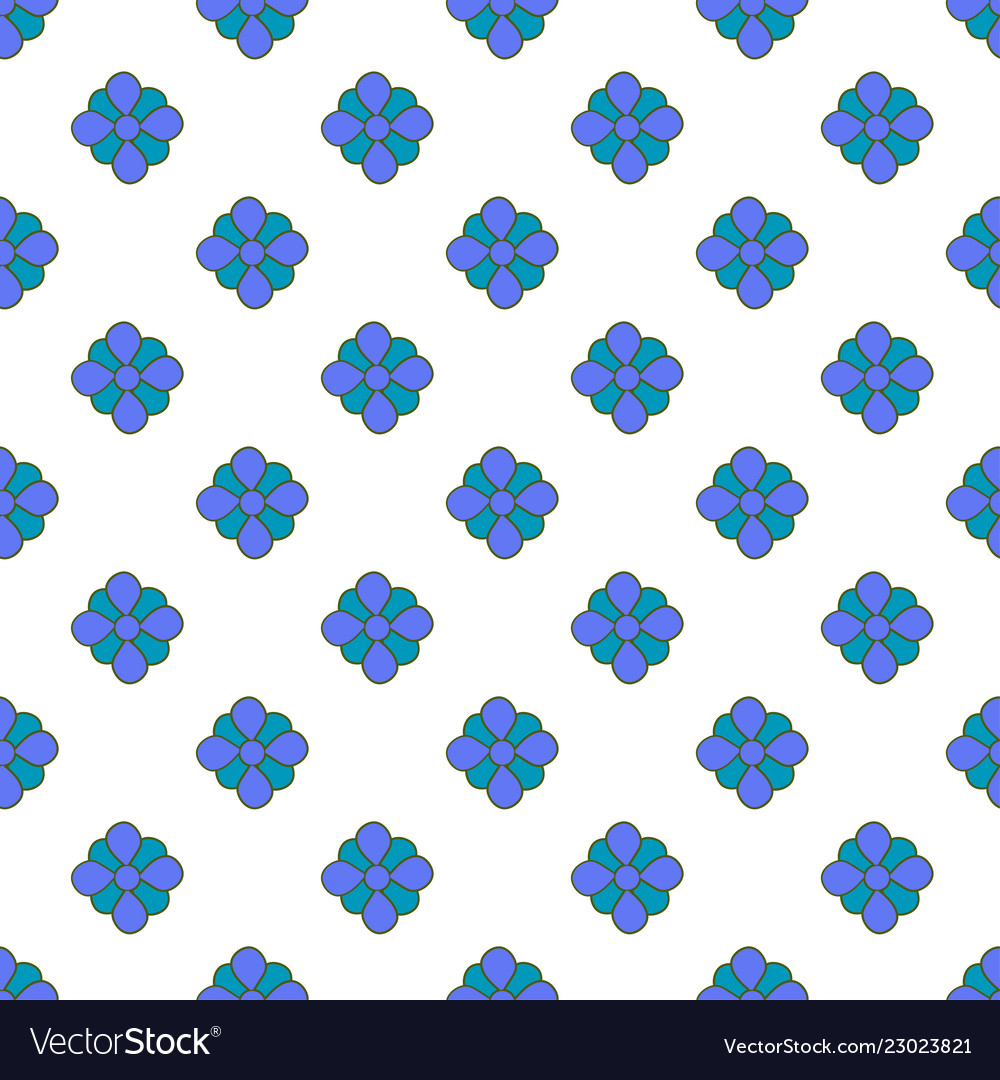 Vintage seamless floral pattern cute simple style