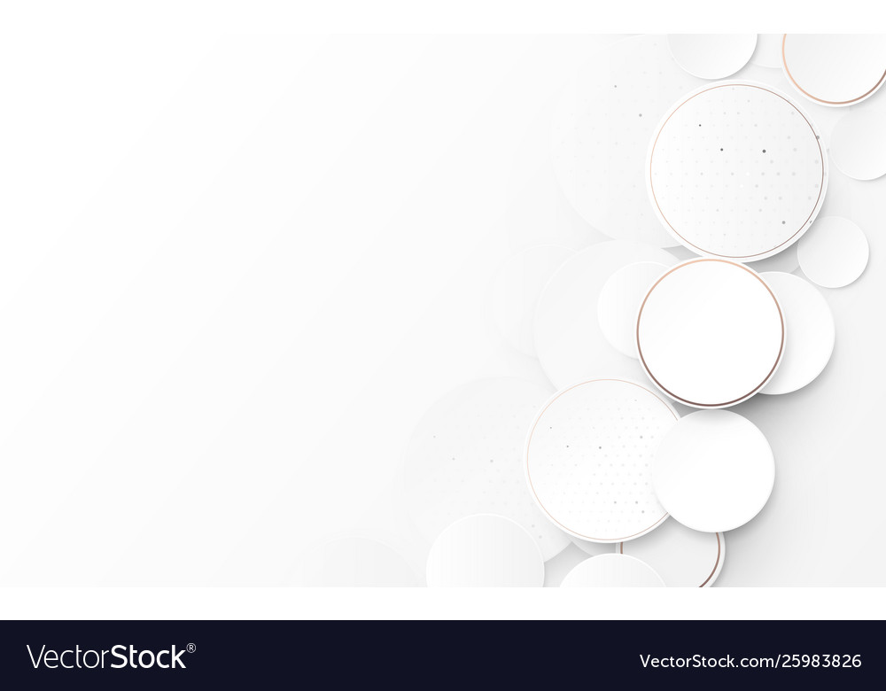 Abstract circles white and gray modern background