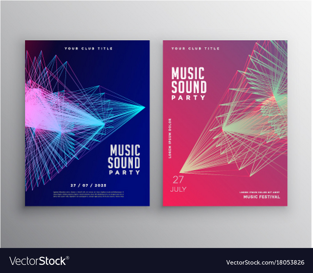 Abstract music flyer template design with