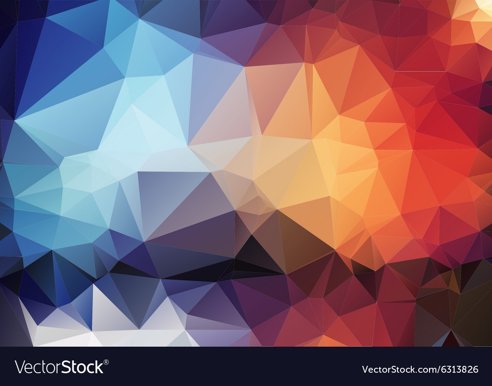 Colorful Pattern Of Angular Geometric Shapes Vector Image Extraordinary Angular Pattern