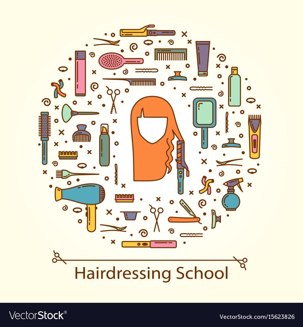 Hairdressing school vector image