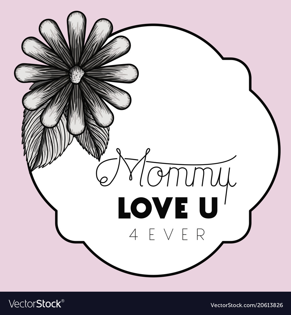 Happy mothers day frame with flower Royalty Free Vector