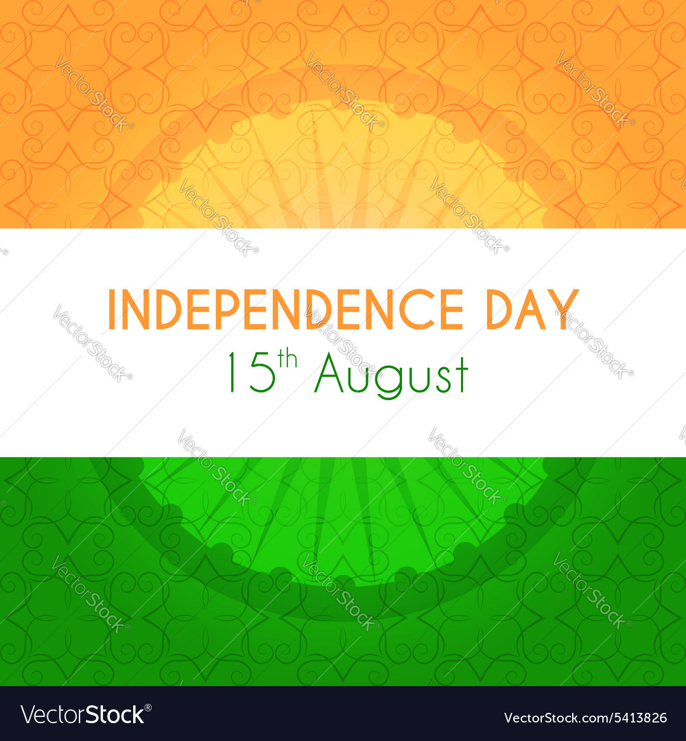 Indian independence day greeting card with vector image