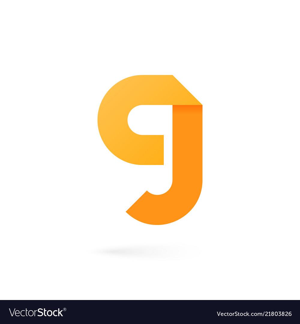 Letter g logo on white alphabet background