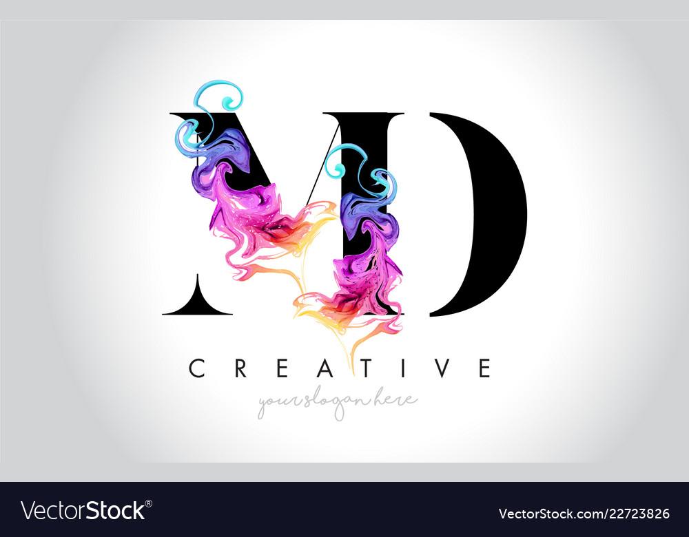 Md vibrant creative leter logo design