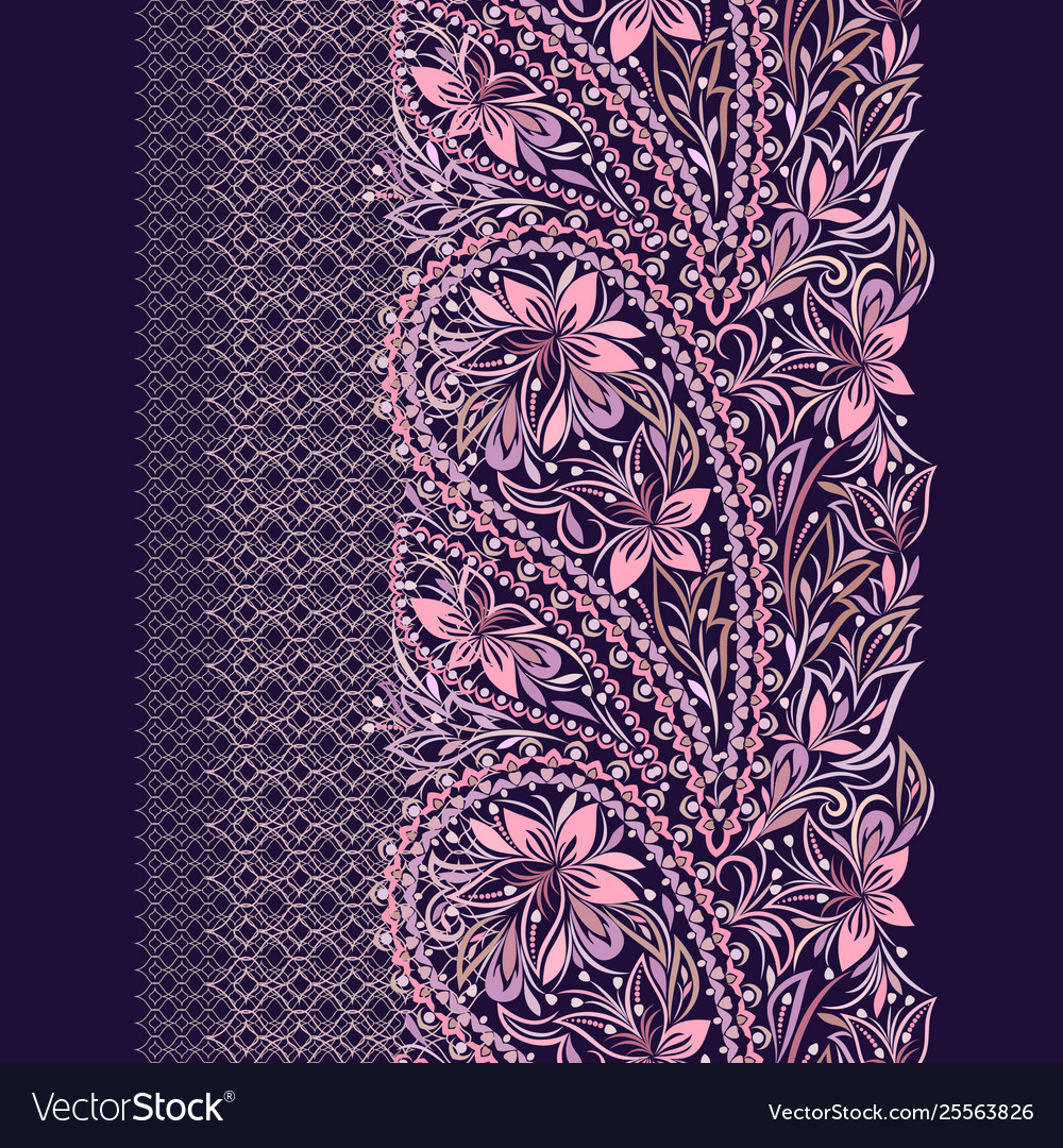 Paisley - seamless colorful ethnic border